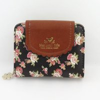 Cheap Fashion flower Pendant wallet small women purse HASP women wallet PU leather coin purse card holder