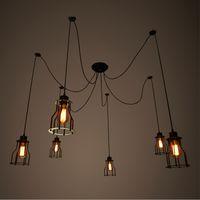 Wholesale modern edison chandelier lights Ceiling Competitive Iron industrial Pendant Lamps V V LED Incandescent Pendant Lamps E27 E26 ty