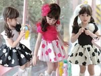 babies blossoms - GXR Children Clothing Summer Korean Girl Dress Short Sleeve Children s Plum Blossom Flower Dresses Year Baby Kids Princess Dress GX136
