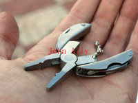 Wholesale New MAMMUT fly beetle Multi function Tool Pliers Folding Plier Scarab turtle Clamp Screwdriver Knife Rasp Key ring