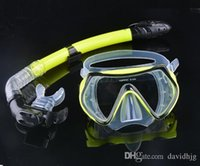 scuba diving equipment - Promotion Scuba Diving Mask Snorkel Goggles Set Silicone Swimming Pool Mask Equipment b7 SV007079