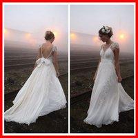 Wholesale 2015 Sexy Backless A line Lace Wedding Dress Vestidos De Noiva LS0667