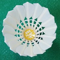 Wholesale GOOD QUALITY badminton shuttlecock with A flight stability suitable for Professional Athlets SAME QUALITY AS LAISICAR