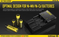 Wholesale Original Nitecore I2 Universal Intellicharger Charger for Battery E Cigarette Multi Function with Security Code100ps