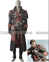 adult patrick costumes - 2016 Hot sell high quality Theme Costume adult custom Assassin s Creed Rogue Shay Patrick Cormac Cosplay Costume