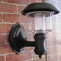 Wholesale Clear Energy Solar Power Wall Light Fence panel LED Lamp Outdoor Lighting Lobby Pathway Garden Light Black