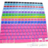 Wholesale 1pcs Colors Soft Silicone Keyboard Protective Film Cover Skin for Apple MacBook Pro Hot N2E