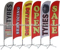 Wholesale BF cm custom double side Flying Banner Beach Flag Teardrop Flag Banner Feather Flag to Norway