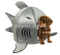 Wholesale Piece set Japanese Shark Pet Beds Shark Attack Dog Bed Cat Bed Big Small