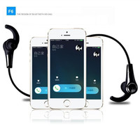 Wholesale New Original FineBlue F6 Bluetooth Headset V4 Wireless Headphones Stereo Sport Earphones With Calls Remind Earphone
