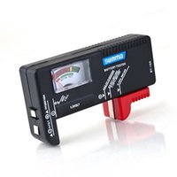 Wholesale Handheld V V Digital Battery Tester Clear LCD Display Black Universal Battery Tester