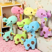 giraffe gifts - 1 X Cute Gift Plush Giraffe Soft Toy Animal Dear Doll Baby Kid Child Birthday Happy Colorful