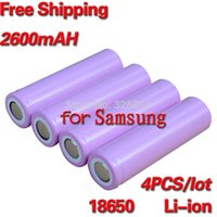 Wholesale 4pcs V mAh Original For Samsung rechargeable li ion Lithium Battery ICR18650 F mAH batteries