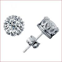 Platine plaqué belle mode 925 sterling argent mignon de mariage Swarovski Elements cristal autrichien pierre noble stud boucles d'oreilles bijoux E363