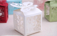 Wholesale 2000PCS Wedding favors boxes gift boxes Party favors hollow wedding candy box favor chocolate boxes candy bags cake boxes