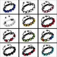Wholesale Popular mm Disco Crystal Clay Ball Beads Shamballa Charms Bracelets Jewelry Infinity Wrap Bracelet Bangles For Women