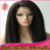 Peruvian Hair kinky straight lace wigs - New design hair wigs A grade unprocessed full lace peruvian virgin human hair wigs kinky straight hair products