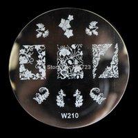 art pine - W series of nail art stamping equipment nail imaging template Vine Pine W