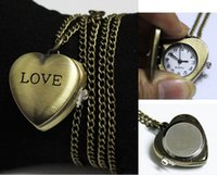 away form - Goddess love heart shaped pocket watch retro gift female form student table jewelry accessories away artifacts