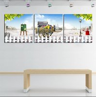 Cheap Free Shipping Hot Sell Modern Wall Painting Home Decorative Art Picture Paint Canvas Prints The fence outside wonderful world