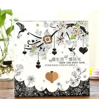 Wholesale Slower Life Sheets Picture Coloring Card Tintage Postcard For Adult Release Stress Painting Drawing Book Secret Garden
