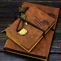 Wholesale Brand New Classic Colors Leather Retro Vintage Top Quality Unique Golden Watanabe Blank Pages Elegant Tying Notebook Journal Diary