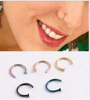Wholesale New Arrival Medical Titanium Nose Hoop Nose Rings Body Piercing Jewelry Colors Drop Shipping Body
