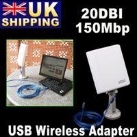Cheap UK Stock to UK High Power Signal King 20DBI Outdoor USB Wireless Adaptor Antenna 150Mbps+Retail Box UPS