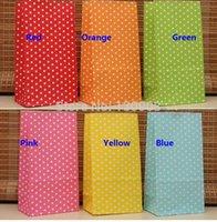 Cheap Polka Dot kraft paper gift bag, Festival Dot gift bags,birthday party gifts bag size 9*6*18cm Free Shipping