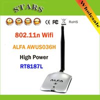 Wholesale New High Power ALFA AWUS036H MW WIFI Wireless USB Network Adapter DB Antenna with Realtek8187L Dropshipping