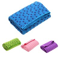 Wholesale Dustproof Non slip Sweat Absorbent Yoga Mat Towel Mesh Bag cm Colors