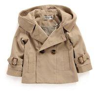 baby boy windbreaker - TA21 Children baby boy colour fashion Double breasted Hooded Windbreaker High quality coat
