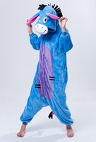 adult sleeper pajamas - Best selling new flannel Cartoon blue STICH Male and female adult sleeper leisure wear jumpsuits Cosplay casual pajamas
