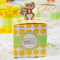 animal valentine box - set of DIY Animal Candy Boxes Mini Jungle Animal party Boxes Valentine Birthday Party Favor Boxes gift wrap