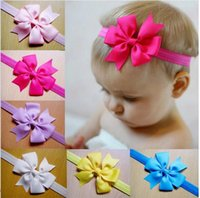 Wholesale Hair accessories newborn Baby Kids Bow bowknot Flower skinny Headbands Infant Toddler Girl Clips Hairband Hair Band ETB009P