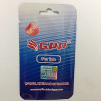 al por mayor sim gpp originales-El nuevo GPP Sim original de MOQ 1PCS desbloquea el iPhone 4S iOS5 iOS6 iOS7 iOS8 iOS9 GSM gevey