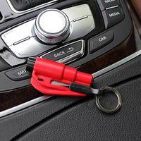 Wholesale New Car Auto Emergency Safety Hammer Belt Window Breaker Key Chain Escape Tool