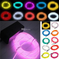 Wholesale Neon Light Colors M EL Wire Rope Tube with Controller Halloween Christmas Decoration for Dance Party Car Decor Controller