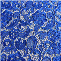 Wholesale 11 Colors High grade Water Soluble Embroidered Lace Fabric Wedding Dress Show Thin Apeak Fabric Width cm In Stock