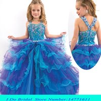 Wholesale Beauty Pageant Dresses For Girls Junior Teens Toddler Pageant Dresses Size girls interview dresses