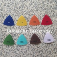 Wholesale Electroplated Polishing Pad quot Triangle Diamond Resin Pads Complete Kit Super Aggressive Abrasive Disc for Dremel Multi Max