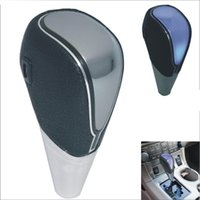 Wholesale New Automatic Car Black Faux Leather Touch Activated Ultra Blue LED Light Shift Knob