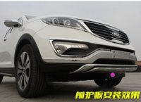 for KIA Sportage R accessories kia sportage - p ABS plating front bumper modified dual exhaust design of rear bumper car accessories for KIA Sportage R M5598