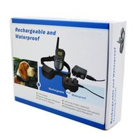 Wholesale Rechargeable and waterproof Remote Dog Training Collar Static and vibration LCD display Remote Range to meters in retail box