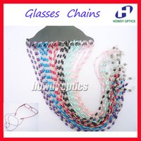 beaded eyeglass chains - KMD001 Beaded Pearl Sunglass Reading Glasses Eyeglass Chain Cord Rope Holder
