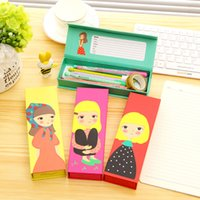 Wholesale Paper School Pencil Case for Girls Stationery Children Gifts Pen Bag Creative School Supplies Multifunctional Kids Pencil Box