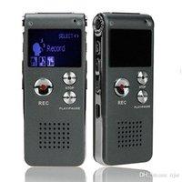 Wholesale 8GB Brand Spy Mini USB Flash Digital Audio Voice Recorder Hr Dictaphone MP3 Player Grey Pen Drive Grabadora Gravador de voz