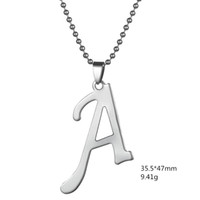b designs necklaces - 2016 New Fashion design DIY Letter A B C D Pendant For Man And Woman Necklaces