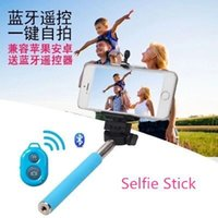Wholesale Selfie Stick Bluetooth Monopod cellphone picture bar rod Bluetooth remote control take artifact