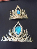 Wholesale Frozen elsa anna Queen crown elsa Coronation plastic crown cosplay hair cosplay crown tiara gold red pink blue colours